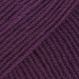 BABY MERINO UNI COLOUR 35 dark purple