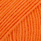 BABY MERINO UNI COLOUR 36 orange